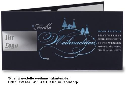 Sch ner firmen weihnachtsgru mit logo weihnachten for Weihnachtskarten mit firmenlogo