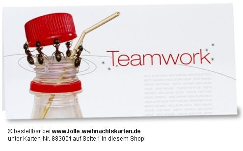 Teamwork Weihnachtskarte für Unternehmen