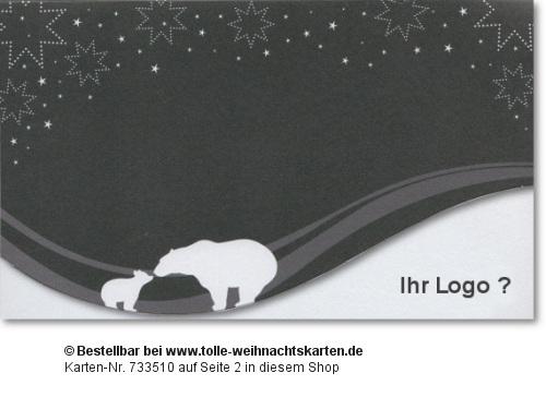Weihnachtskarte mit Spendanteil World Vision