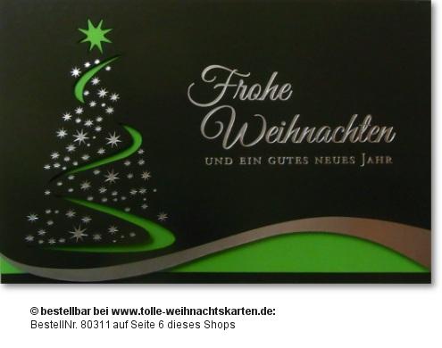 schön gestaltete Weihnachtskarte