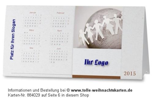 Weihnachtskarte für Firmen mit Kalender