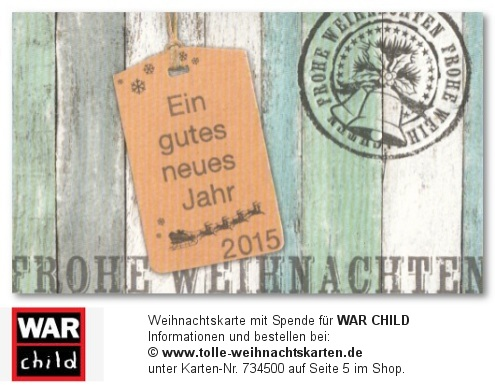 mit Spende für War Child