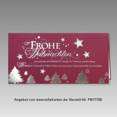 Günstige Weihnachtskarte für Firmen
