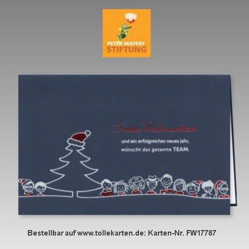 Witzig gemachte Spenden Weihnachtskarte Peter Maffay Stiftung