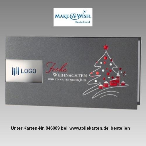 Weihnachtskarte Firmen als Spendenkarte