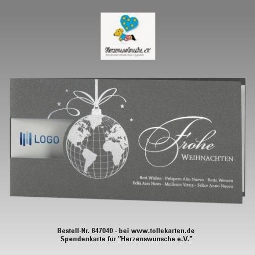 Geschäftliche Weihnachtskarte mit Spende