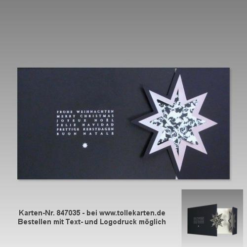hochwertige Weihnachtskarte für Firmen, Nr. 847035